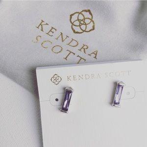 New Kendra Scott Fletcher Silver Stud Earrings